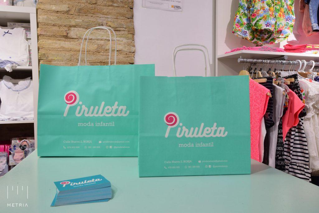 Bolsas diseñadas con el logotipo de Piruleta